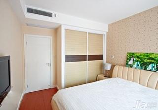 简约风格二居室富裕型80平米卧室衣柜设计图