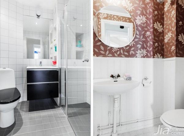 北欧风格三居室5-10万120平米卫生间设计图
