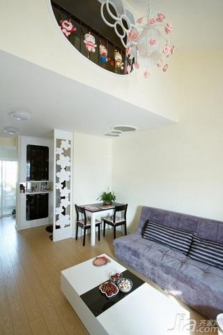 简约风格复式富裕型客厅沙发婚房家装图片