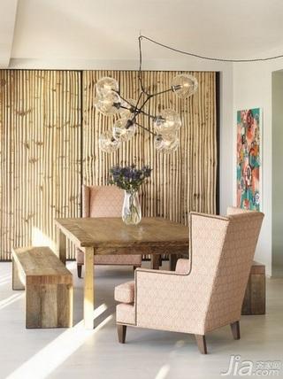 欧式风格三居室富裕型餐厅餐厅背景墙餐桌图片
