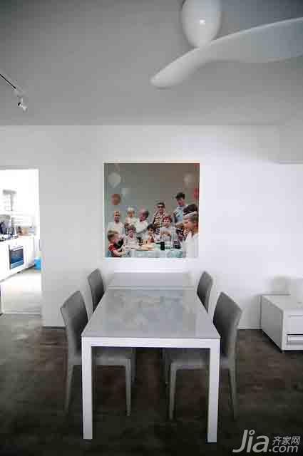 简约风格二居室经济型餐厅餐桌效果图