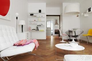 北欧风格小户型舒适白色经济型客厅灯具效果图