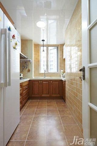 混搭风格小户型小清新经济型80平米厨房效果图