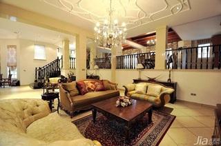 欧式风格别墅大气白色豪华型140平米以上客厅电视背景墙沙发效果图