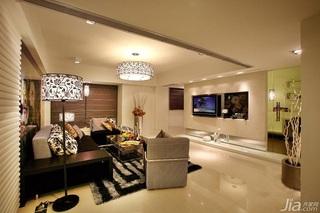简约风格三居室稳重黑白富裕型130平米客厅沙发背景墙沙发效果图
