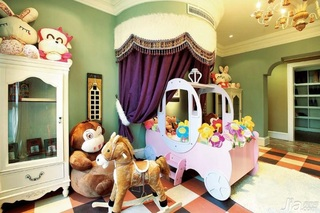 美式乡村风格别墅可爱暖色调富裕型卧室衣柜设计图