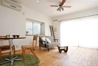 田园风格小户型原木色20万以上40平米窗帘效果图