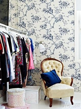 北欧风格三居室富裕型衣帽间背景墙装修图片