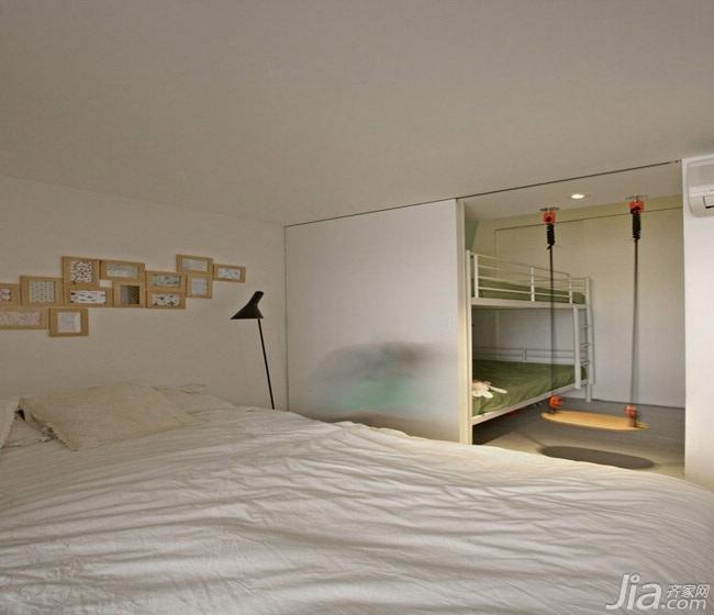 简约风格小户型可爱经济型儿童房床效果图