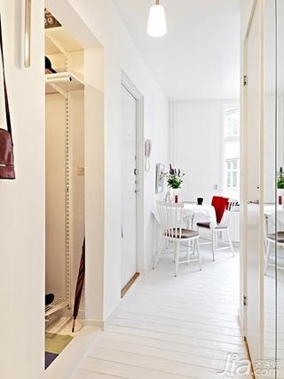 北欧风格小户型白色40平米玄关餐桌图片