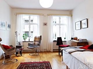 北欧风格小户型40平米书桌效果图