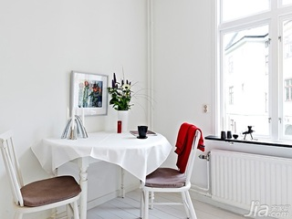 北欧风格小户型白色40平米餐桌效果图