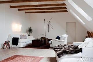 跃层白色140平米以上客厅沙发效果图