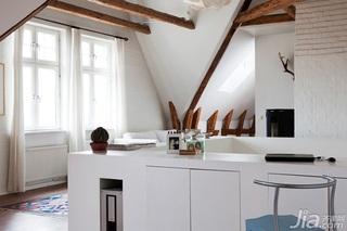 跃层白色140平米以上阁楼客厅隔断装修效果图