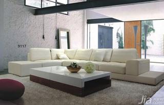 简约风格简洁米色客厅沙发图片