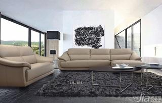 简约风格大气富裕型客厅沙发效果图