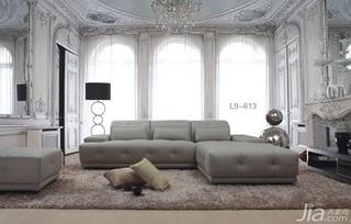 简约风格奢华米色富裕型客厅沙发效果图