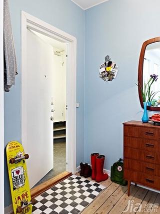 北欧风格二居室60平米门厅玄关柜效果图