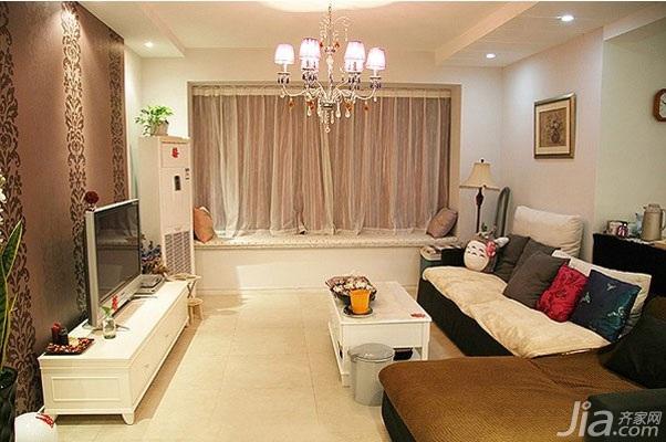 三居室5-10万120平米客厅飘窗沙发图片