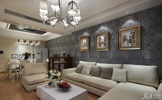 简约风格四房富裕型140平米以上客厅客厅隔断装修效果图