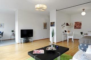 北欧风格小户型简洁40平米客厅沙发效果图
