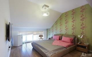 简约风格跃层20万以上卧室卧室背景墙灯具效果图