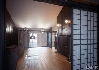 日式风格复式稳重经济型客厅电视背景墙沙发效果图