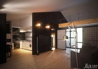 日式风格复式稳重经济型客厅沙发效果图