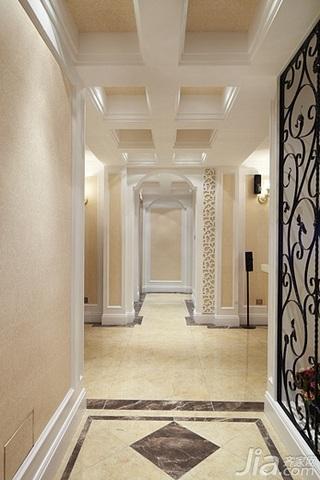 欧式风格四房温馨140平米以上玄关过道装修效果图