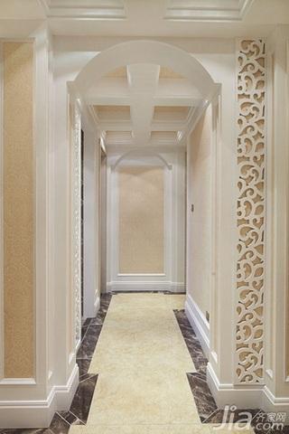 欧式风格四房温馨暖色调140平米以上过道效果图