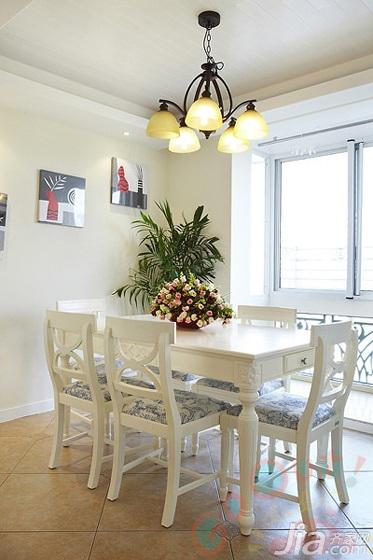田园风格二居室经济型餐厅餐桌效果图