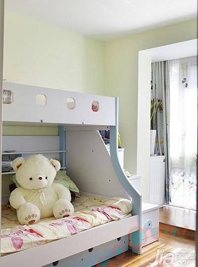 田园风格二居室经济型儿童房床效果图