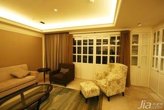 简约风格稳重暖色调15-20万130平米客厅沙发效果图