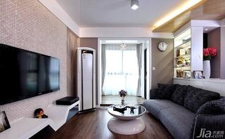 简约风格二居室80平米阳台电视背景墙设计图