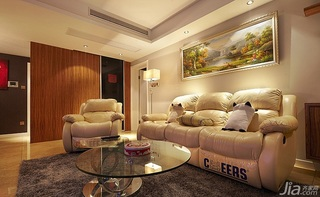 简约风格三居室富裕型客厅沙发婚房家装图片