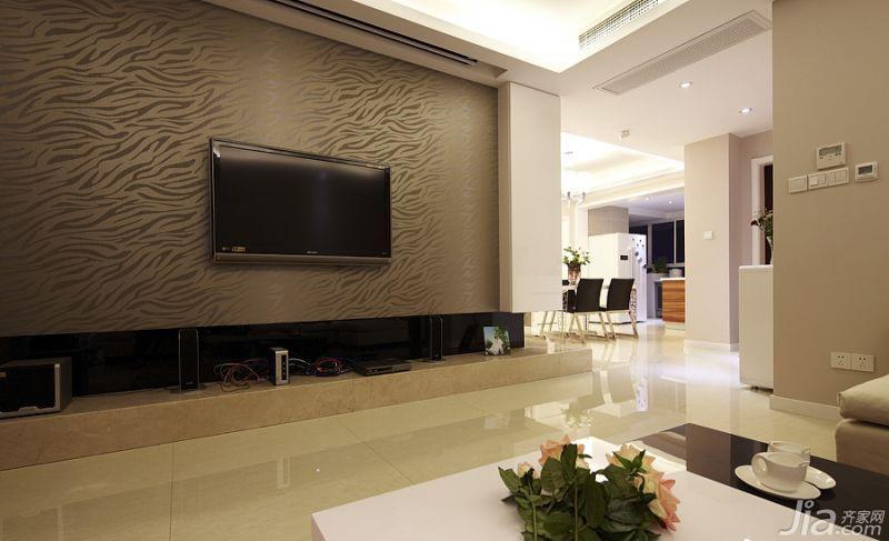 简约风格二居室20万以上电视背景墙效果图