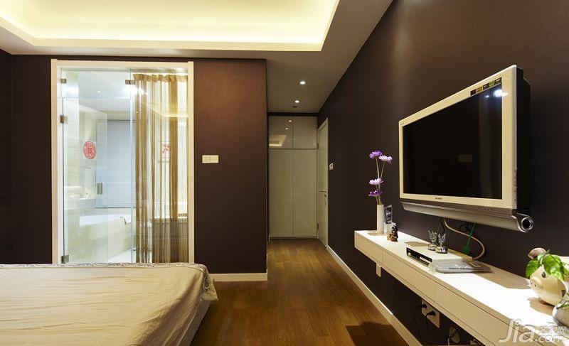 简约风格二居室20万以上主卫电视背景墙效果图
