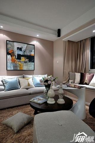 简欧风格小户型富裕型客厅设计图