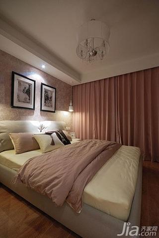 简欧风格小户型富裕型卧室床效果图