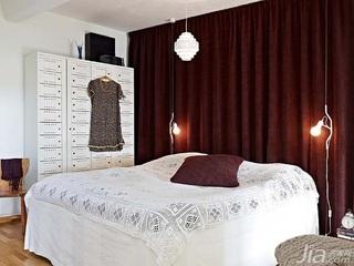 公寓温馨白色经济型80平米卧室卧室背景墙衣柜设计