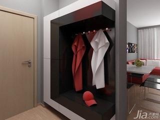 简约风格小户型简洁黑白玄关玄关柜效果图