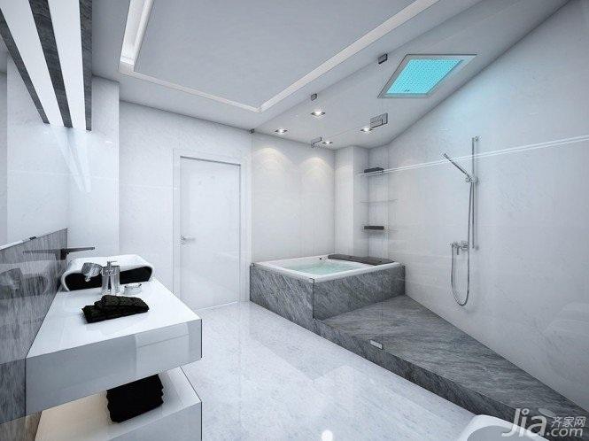 简约风格一居室大气经济型卫生间洗手台效果图