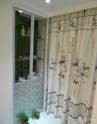 简约风格三居室经济型阳台窗帘图片