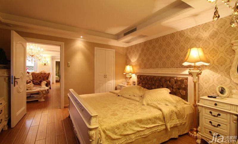 欧式风格二居室80平米卧室卧室背景墙装修效果图图片