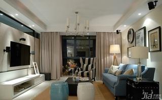 简约风格二居室130平米阳台窗帘婚房平面图