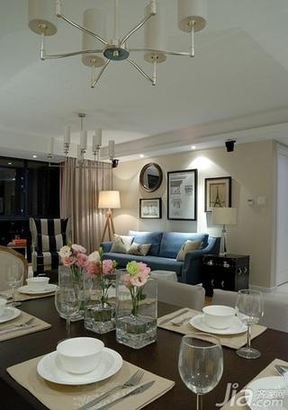 简约风格二居室130平米餐桌婚房家装图片