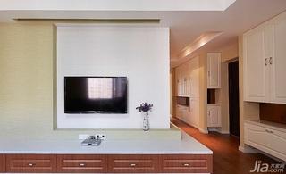 简约风格三居室130平米电视背景墙设计图