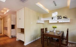 简约风格三居室130平米餐厅装潢
