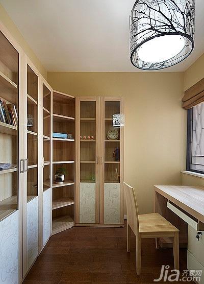 简约风格三居室130平米书房装潢