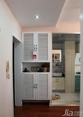 田园风格一居室40平米玄关玄关柜效果图